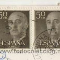 Sellos: SELLOS FRANCO, 50 CÉNTIMOS ( PEGADOS EN POSTAL ). Lote 39323057