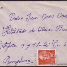 Sellos: ESPAÑA. (CAT. 1153). 1960. SOBRE DE POCELA A PAMPLONA. 1 PTA. MAT. MNS. * POCELA/20-12-60.*. Lote 37476670