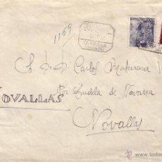 Sellos: ESPAÑA.(CAT.1053,1094).1951.SOBRE CERTIFICADO DE TARRASA (BARCELONA).BONITO FRANQUEO.. Lote 25677332