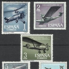 Sellos: AVIACION 1961 EDIFIL 1401-5 NUEVOS** VALOR 2013 CATALOGO 7.75 EUROS SERIE COMPLETA . Lote 40520725