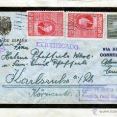 Sellos: CORRESPONDENCIA DIPLOMATICA 1952 CARTA REGISTRADA EMBAJADA DE ESPAÑA TEGUCIGALPA, SELLOS HONDURAS. Lote 40632153