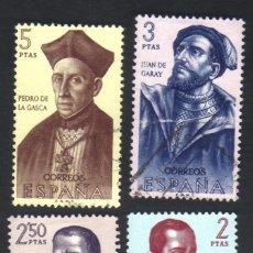 Francobolli: 8 SELLOS USADOS, SERIE, AÑO 1962, EDIFIL 1454 A 1461, FORJADORES DE AMÉRICA. Lote 40856501
