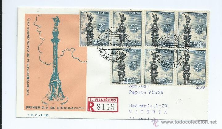 SERIE TURISTICA (COLON) S.P.D. AÑO 1965 (Sellos - España - II Centenario De 1.950 a 1.975 - Cartas)