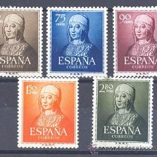 Sellos: ESPAÑA SEGUNDO CENTENARIO SERIES Nº 1092/96 ** ISABEL LA CATOLICA. Lote 42509447