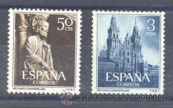 ESPAÑA SEGUNDO CENTENARIO SERIES Nº 1130/31 ** AÑO SANTO COMPOSTELANO. (Sellos - España - II Centenario De 1.950 a 1.975 - Nuevos)