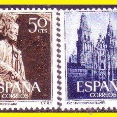 Sellos: 1954 AÑO SANTO COMPOSTELANO, EDIFIL Nº 1130 Y 1131 * *. Lote 42857415
