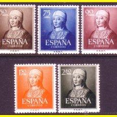 Sellos: 1951 V CENT. ISABEL LA CATÓLICA, EDIFIL Nº 1092 A 1096 * *. Lote 42863776
