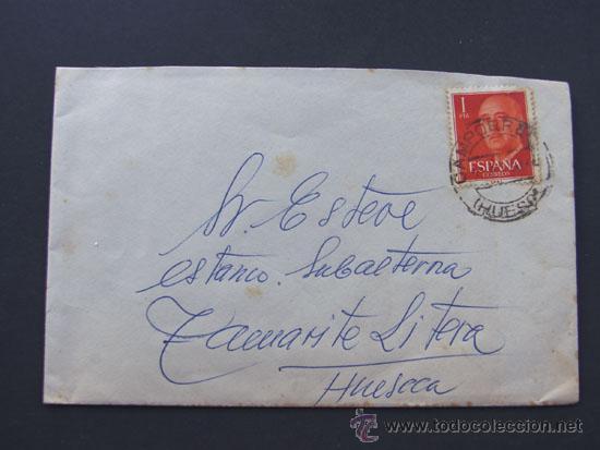 CARTA CIRCULADA DESDE CAMPORRELLS A TAMARITE DE LITERA / HUESCA 1964 (Sellos - España - II Centenario De 1.950 a 1.975 - Cartas)