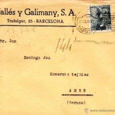 Sellos: . CARTA VALLES Y GALIMANY BARCELONA . Lote 43655572