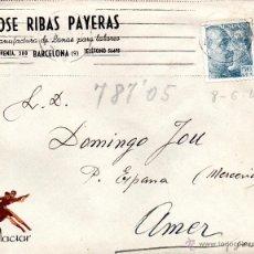 Sellos: . CARTA JOSE RIBAS PAYERAS BARCELONA . Lote 43655574