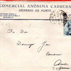 Sellos: . CARTA COMERCIAL ANONIMA CARRERA OLOT. Lote 43655646