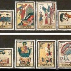 Sellos: ESPAÑA 1975 - PINTURA - CODICES - EDIFIL Nº 2284-2291. Lote 194755395