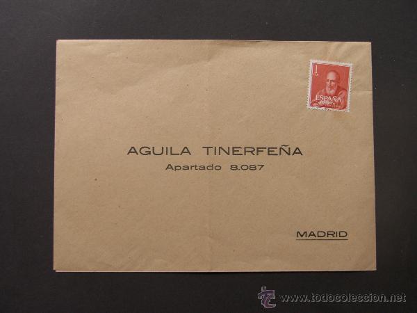 SOBRE PUBLICIDAD TABACO / AGUILA TINERFEÑA / CANARIAS / TENERIFE (Sellos - España - II Centenario De 1.950 a 1.975 - Cartas)