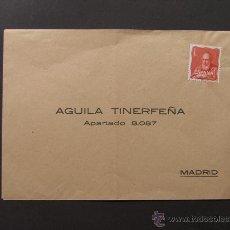 Sellos: SOBRE PUBLICIDAD TABACO / AGUILA TINERFEÑA / CANARIAS / TENERIFE. Lote 44644900