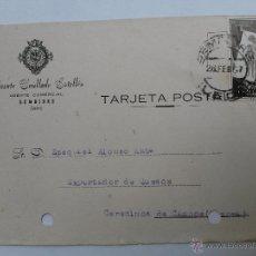 Sellos: TARJETA POSTAL DE AGENTE COMERCIAL DE BEMBIBRE , LEON 1957. Lote 45187175