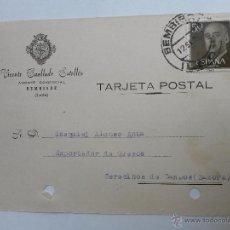 Sellos: TARJETA POSTAL DE AGENTE COMERCIAL DE BEMBIBRE , LEON 1957. Lote 45187255