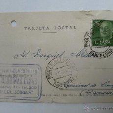 Sellos: TARJETA POSTAL DE PRAT DE LLOBREGAT , BARCELONA 1962. Lote 45187326