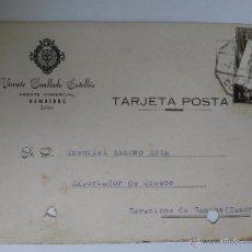 Sellos: TARJETA POSTAL DE AGENTE COMERCIAL DE BEMBIBRE , LEON 1957. Lote 45187459