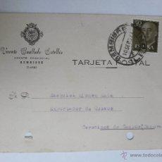 Sellos: TARJETA POSTAL DE AGENTE COMERCIAL DE BEMBIBRE , LEON 1957. Lote 45187485