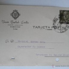 Sellos: TARJETA POSTAL DE AGENTE COMERCIAL DE BEMBIBRE , LEON 1957. Lote 45187646