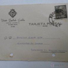 Sellos: TARJETA POSTAL DE AGENTE COMERCIAL DE BEMBIBRE , LEON 1957. Lote 45188184
