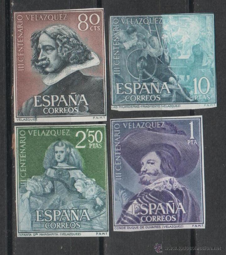 0455 ESPAÑA - III CENTENARIO DE VELAZQUEZ - EDIFIL Nº SH 1344-7 - CON FIJASELLOS (Sellos - España - II Centenario De 1.950 a 1.975 - Nuevos)