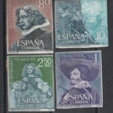 Sellos: 0455 ESPAÑA - III CENTENARIO DE VELAZQUEZ - EDIFIL Nº SH 1344-7 - CON FIJASELLOS. Lote 45457333