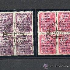 Sellos: ESPAÑA=EDIFIL 1088/89=VISITA DEL CAUDILLO A CANARIAS EN BLOQUES DE 4=CATALOGO +576 EUROS. Lote 45711046