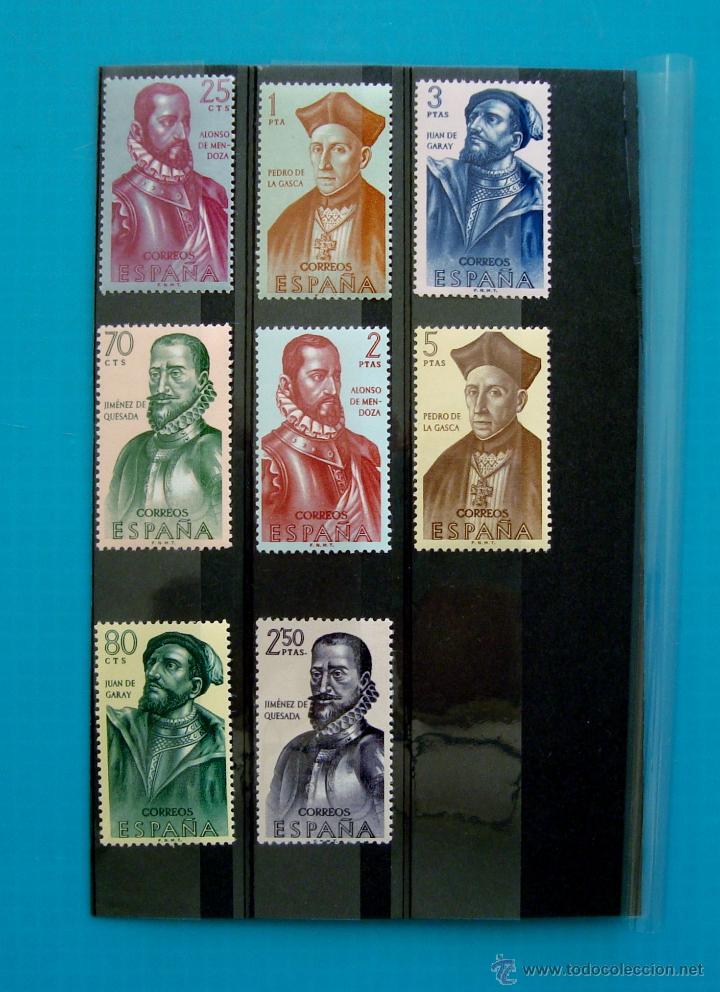 SELLOS ESPAÑA 1962 FORJADORES DE AMERICA EDIFIL 1454 AL 1461 NUEVOS SIN FIJASELLOS ** (Sellos - España - II Centenario De 1.950 a 1.975 - Nuevos)