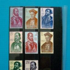 Sellos: SELLOS ESPAÑA 1962 FORJADORES DE AMERICA EDIFIL 1454 AL 1461 NUEVOS SIN FIJASELLOS **. Lote 45713961
