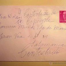 Sellos: MARCOFILIA - SOBRE CIRCULADO MADRID-SALAMANCA - 26 JUNIO 1970. Lote 45912263