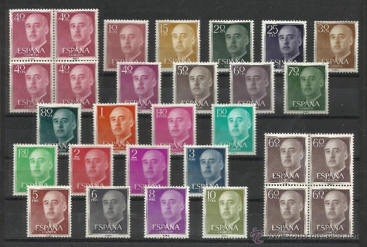FRANCO SERIE BASICA 1955 NUEVOS** VALOR 2014 CATALOGO 33.-- EUROS SERIE COMPLETA (Sellos - España - II Centenario De 1.950 a 1.975 - Nuevos)