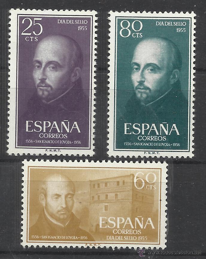 SAN IGNACIO DE LOYOLA 1955 NUEVOS** VALOR 2014 CATALOGO 5.25 EUROS SERIE COMPLETA (Sellos - España - II Centenario De 1.950 a 1.975 - Nuevos)