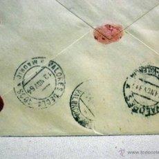 Sellos: SOBRE CIRCULADO, VALORES DECLARADOS, 1000 PTS. REEMBOLSO, MADRID, VALENCIA, 1964, LACRADO. Lote 46202477