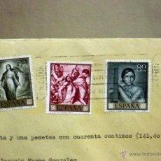 Sellos: SOBRE CIRCULADO. REEMBOLSO, MADRID, VALENCIA, 1965, RESTOS DE LACRADO. Lote 46217577