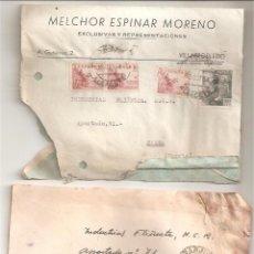 Sellos: CARTA CON SELLO LOTE DE 2 CARTAS CON SELLOS FRANCO. Lote 46513845