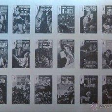 Sellos: BLOQUE DE 24 SELLOS (ESTAMPAS) FORMA DE CROMOS VARIAS PORTADAS DE LIBROS EDITORIAL GP. PLAZA & JANÉS. Lote 46615652