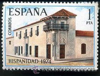 SELLO DE 1 PESETA DE 1974 - 12 DE OCTUBRE HISPANIDAD ARGENTINA - Nº2 (Sellos - España - II Centenario De 1.950 a 1.975 - Nuevos)