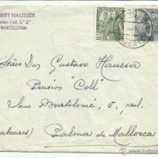Sellos: CIRCULADA Y ESCRITA 1955 DE PUERTO BARCELONA A PALMA DE MALLORCA. Lote 46710043