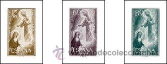 AÑO 1957 (1206-1208) CENT. DE LA FIESTA DEL SAGRADO CORAZON DE JESUS (NUEVO) (Sellos - España - II Centenario De 1.950 a 1.975 - Nuevos)