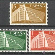 Timbres: ESPAÑA ESTADISTICA EDIFIL NUM. 1196/98 ** SERIE COMPLETA SIN FIJASELLOS. Lote 207582103
