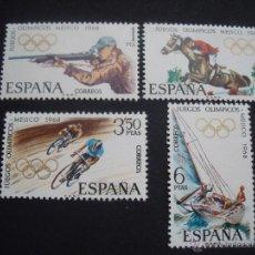 Sellos: ESPAÑA 1968 EDIFIL 1885/8 JUEGOS OLIMPICOS DE MEJICO. Lote 47423268
