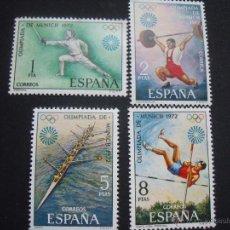 Sellos: ESPAÑA 1972 EDIFIL 2098/01 JUEGOS OLIMPICOS DE MUNICH. Lote 47423337