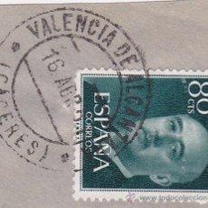 Sellos: CACERES .- MATASELLOS - MATASELLO FECHADOR VALENCIA DE ALCANTARA SOBRE SELLO DE FRANCO. Lote 47460745