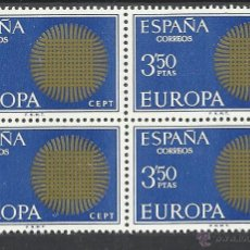 Sellos: EUROPA 1970 EDIFIL 1973 BLOQUE D 4 SERIE COMPLETA NUEVOS**. Lote 269275088