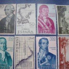 Sellos: SELLOS ESPAÑA FORJADORES DE AMERICA 1967 EDIFIL 1819/26. Lote 48430232