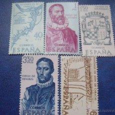 Sellos: SELLOS ESPAÑA FORJADORES DE AMERICA 1968 EDIFIL 1889/93. Lote 48430267