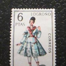 Sellos: ESPAÑA 1969 TRAJE REGIONAL LOGROÑO. 6 PTAS. EDIFIL 1902. Lote 48455418