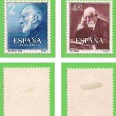 Sellos: EDIFIL 1119-1120. DOCTORES RAMÓN Y CAJAL Y FERRÁN. (1952).* NUEVOS CON SEÑAL - SERIE COMPLETA.. Lote 48968429
