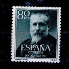 Sellos: ESPAÑA AÑO 1954 EDIFIL 1142 * MH SELLOS NUEVOS CON FIJASELLOS - MARCELINO MENENDEZ Y PELAYO. Lote 125425014
